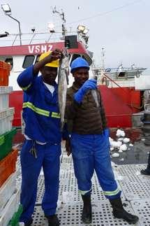 Noticias Curiosas - Pescadores de Namibia Muestras sus capturas