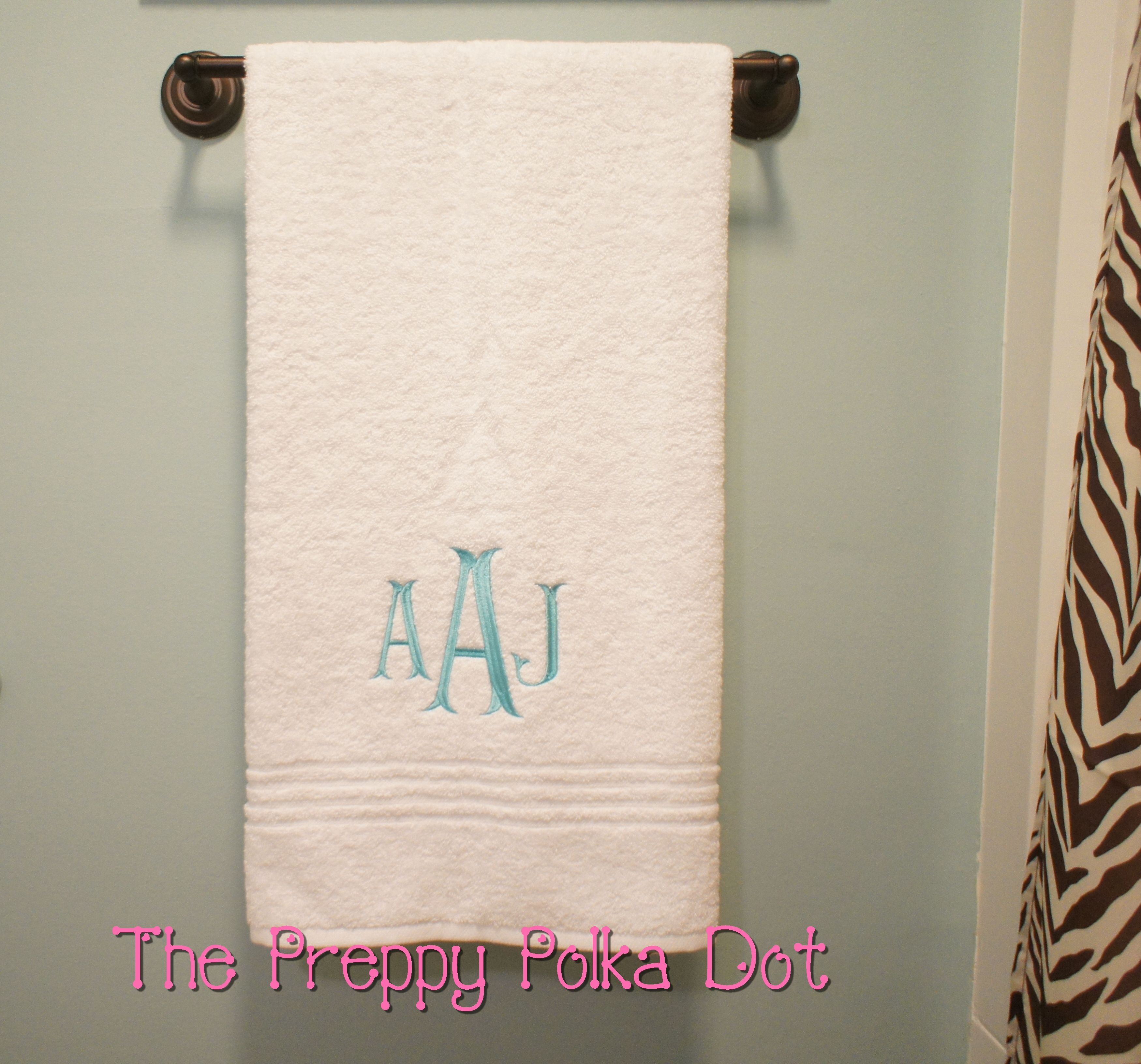 Monogram Bath Towel