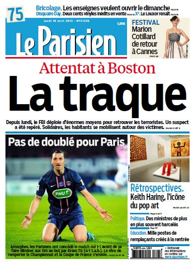 Le Parisien - Jeudi 18 Avril 2013